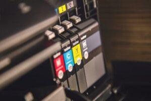 Druckerpatronen im Tintenstrahldrucker