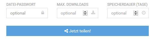 Passwort und maximale Downloads festlegen