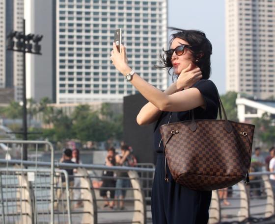 Selfie mit dem Smartphone
