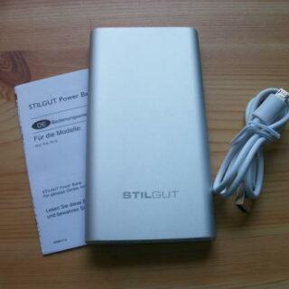 StilGut Powerbank 8.000mAh UltraSlim: Akku-Power für unterwegs