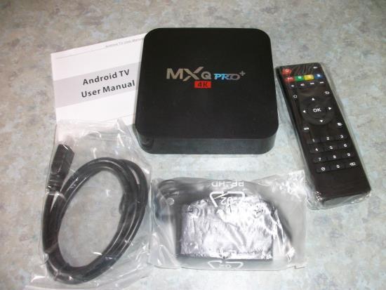 MXQ Pro+ TV Box Lieferumfang