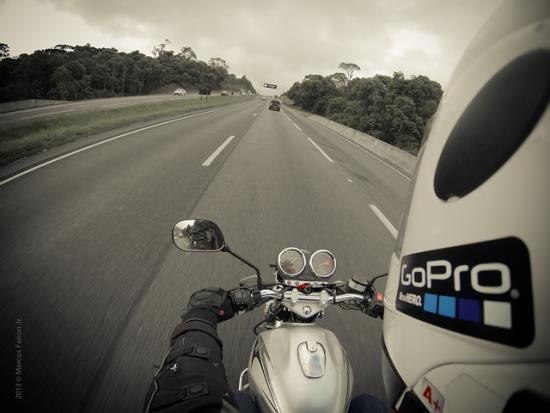 ActionCam am Motorrad im Einsatz
