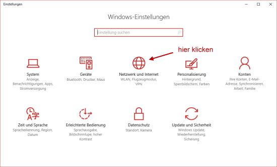Einstellungen der Netzwerkverbindung unter Windows 10 ändern