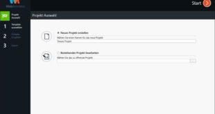 WebAnimator Go Benutzeroberfläche