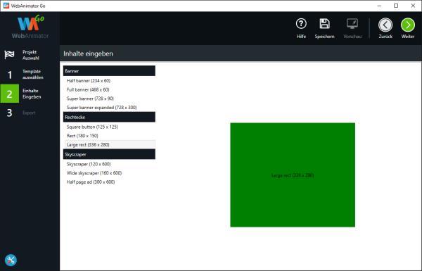 WebAnimator Go Animation erstellen