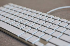 Tastatur in Nahaufnahme