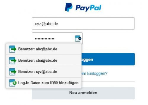 Zugangsdaten speichern mit dem IDENTsmart ID50 Passwort Manager