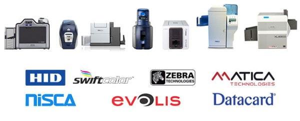 Kartendrucker Beispiele und Hersteller Logos