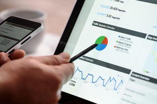Auswertung der Besucherzahlen einer Webseite