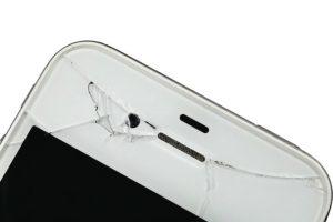 Smartphone Reparatur Display-Schaden Detailaufnahme