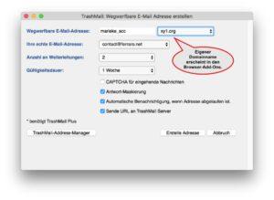 E-Mail-Dienst TrashMail.com