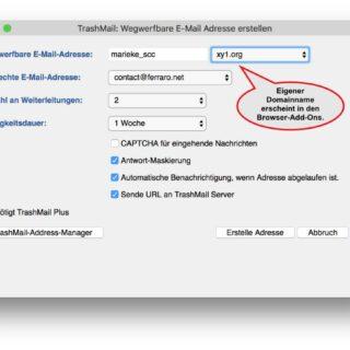 E-Mail-Dienst TrashMail.com jetzt auch mit eigenem Domainnamen nutzbar