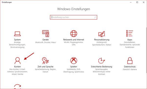 Fenster Windows Einstellungen öffnen