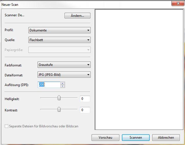 """Optimale Scan-Einstellungen für Schwarz-Weiß-Seiten mit """"Windows-Fax und -Scan"""""""