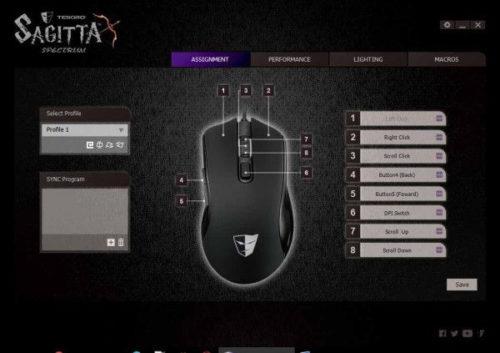 Tesoro Sagitta Spectrum Software Tastenbelegung