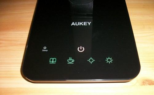 beleuchtete Tasten bei der AUKEY LT-ST16 Smart Touch LED Tischlampe