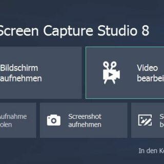 Mit Movavi Screen Capture Studio 8 Bildschirmvideos aufnehmen