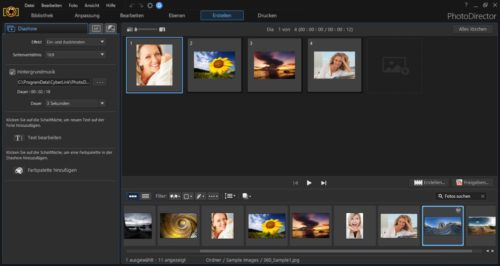 PhotoDirector 9 Diashow erstellen