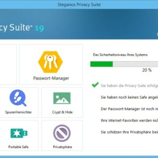 Steganos Privacy Suite 19 - Digitaler Tresor & Passwort-Management