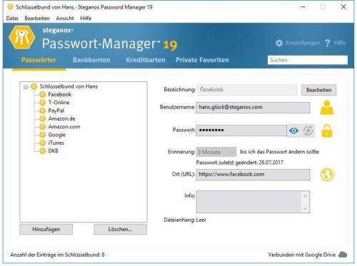 Steganos Passwort-Manager - Sichere Passwörter erzeugen und verwalten