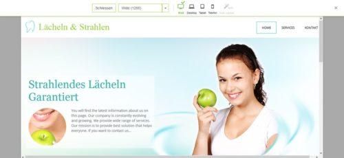 Vorschau der eigenen Homepage