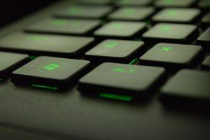 Gaming-Tastatur in der Nahaufnahme