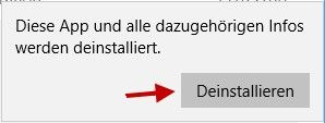 Windows Hinweis App deinstallieren