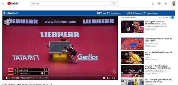 Youtube Converter Qweb: Videos als MP3 oder MP4 speichern