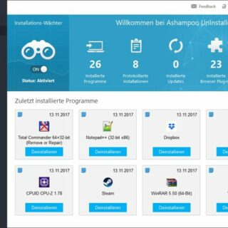 Ashampoo UnInstaller 7 – für saubere und sichere Windows-Systeme