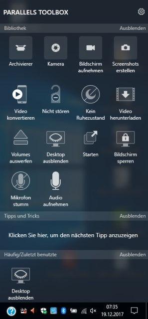 Parallels Toolbox für Windows - Videos, Fotos und Screenshots und mehr