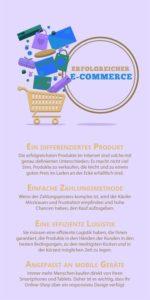 Infografik erfolgreiches E-Commerce
