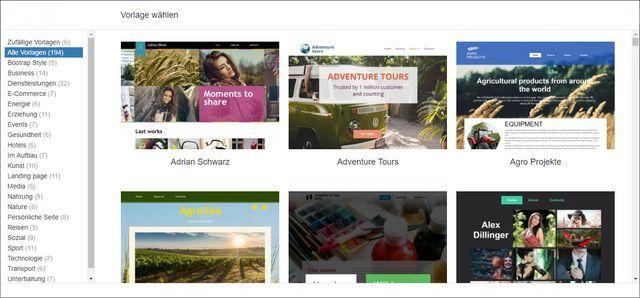 Homepage Baukasten von Domaintechnik vorgestellt