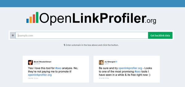 Screenshot openlinkprofiler.org