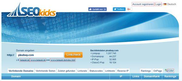 Screenshot seokicks.de