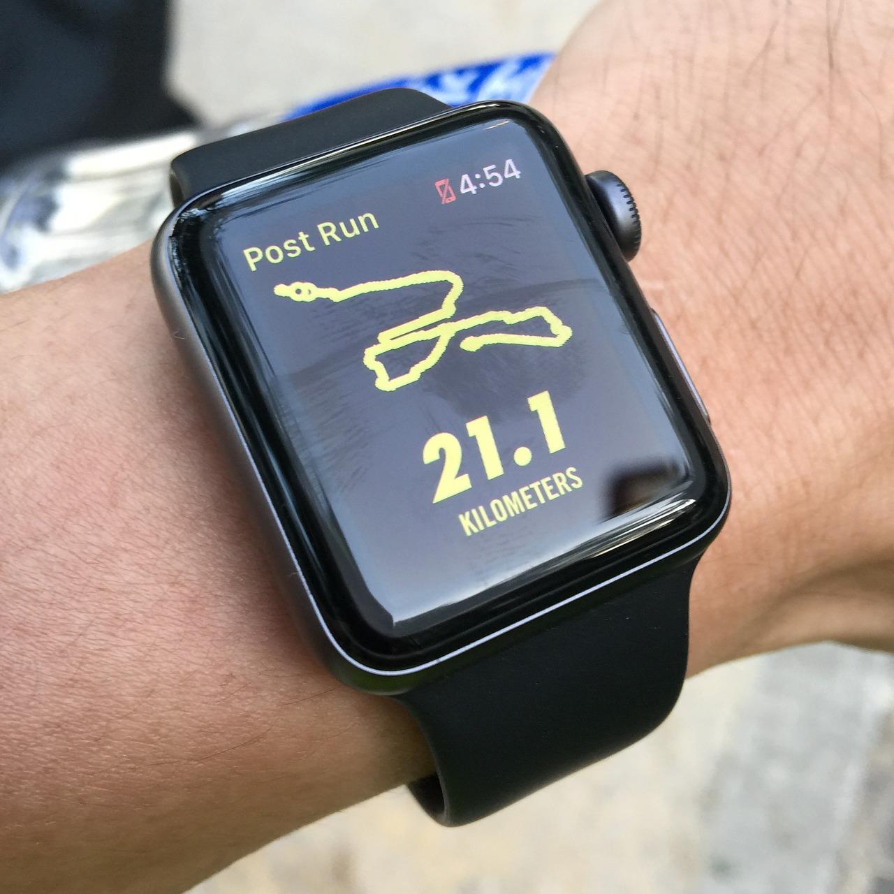 Einer der Vorteile: die GPS-Laufuhr zeigt die Strecke an