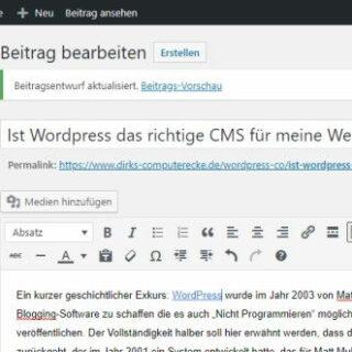 Ist Wordpress das richtige CMS für meine Webseite?