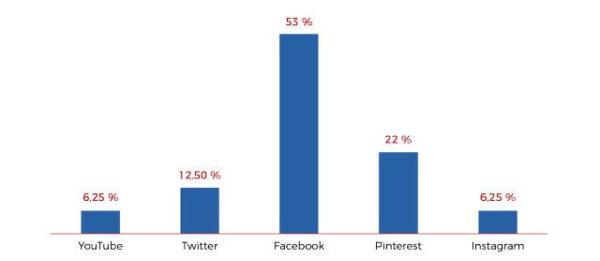 TOP 5 Social Media Plattformen nachBildrechtsverletzungen