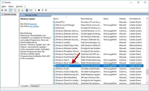 Windows Dienste anpassen und verwalten