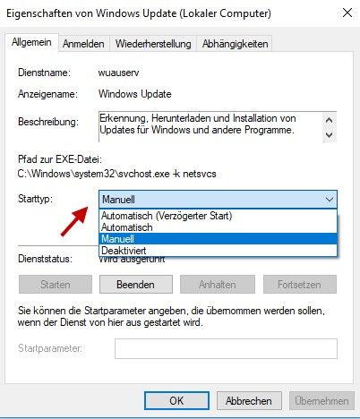 Automatische Updates abschalten bzw. deaktivieren