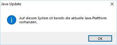 keine Java Updates vorhanden System ist aktuell