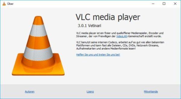 VLC Media Player aktuelle Version
