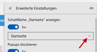 Microsoft Edge Schaltfläche Startseite anzeigen
