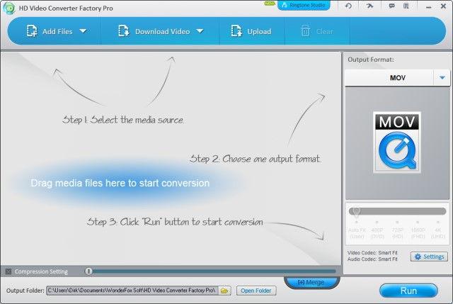 HD Video Converter Factory Pro Hauptfenster