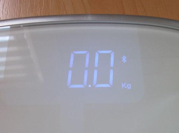 Koogeek S1 Smart Scale Waage eingeschaltet