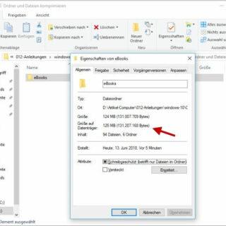Windows 10: Ordner und Dateien komprimieren