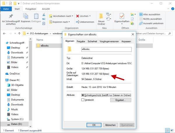 Ordner und Dateien komprimieren Schritt 1 Ordner auswählen