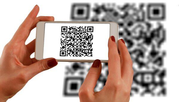 QR-Code am Smartphone