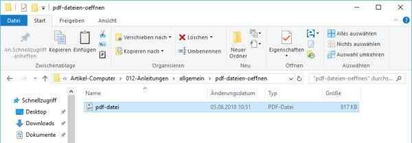 Standardprogramm PDF-Dateien öffnen Microsoft Edge