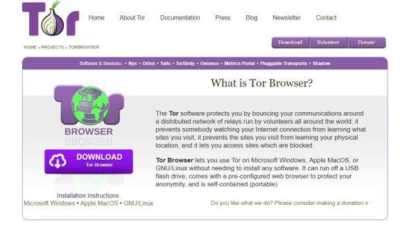 mit dem Tor-Browser ins Darnet