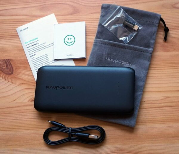 RAVPower 10000mAh USB C Power Bank Lieferumfang